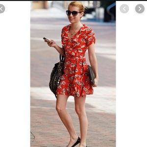 Kate Moss Topshop Floral wrap dress